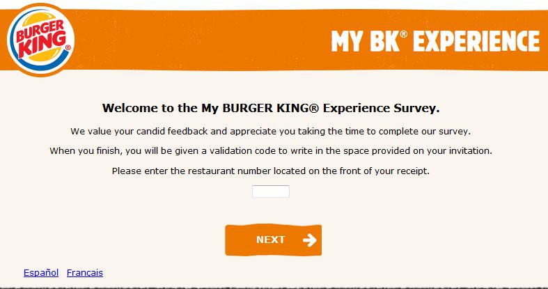 mybkexperience survey free whopper