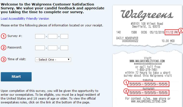 walgreens listens survey