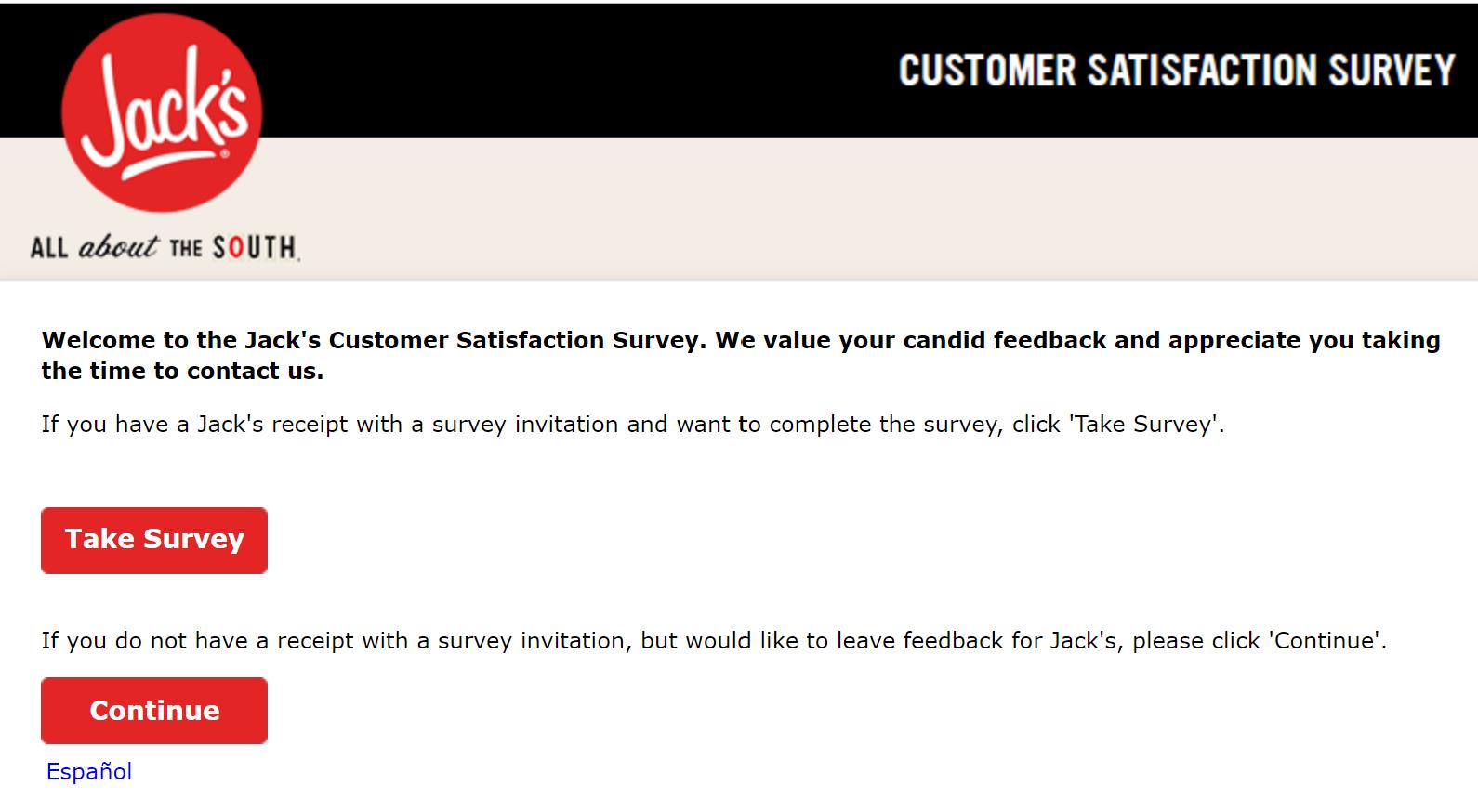 jacklistens receipt survey