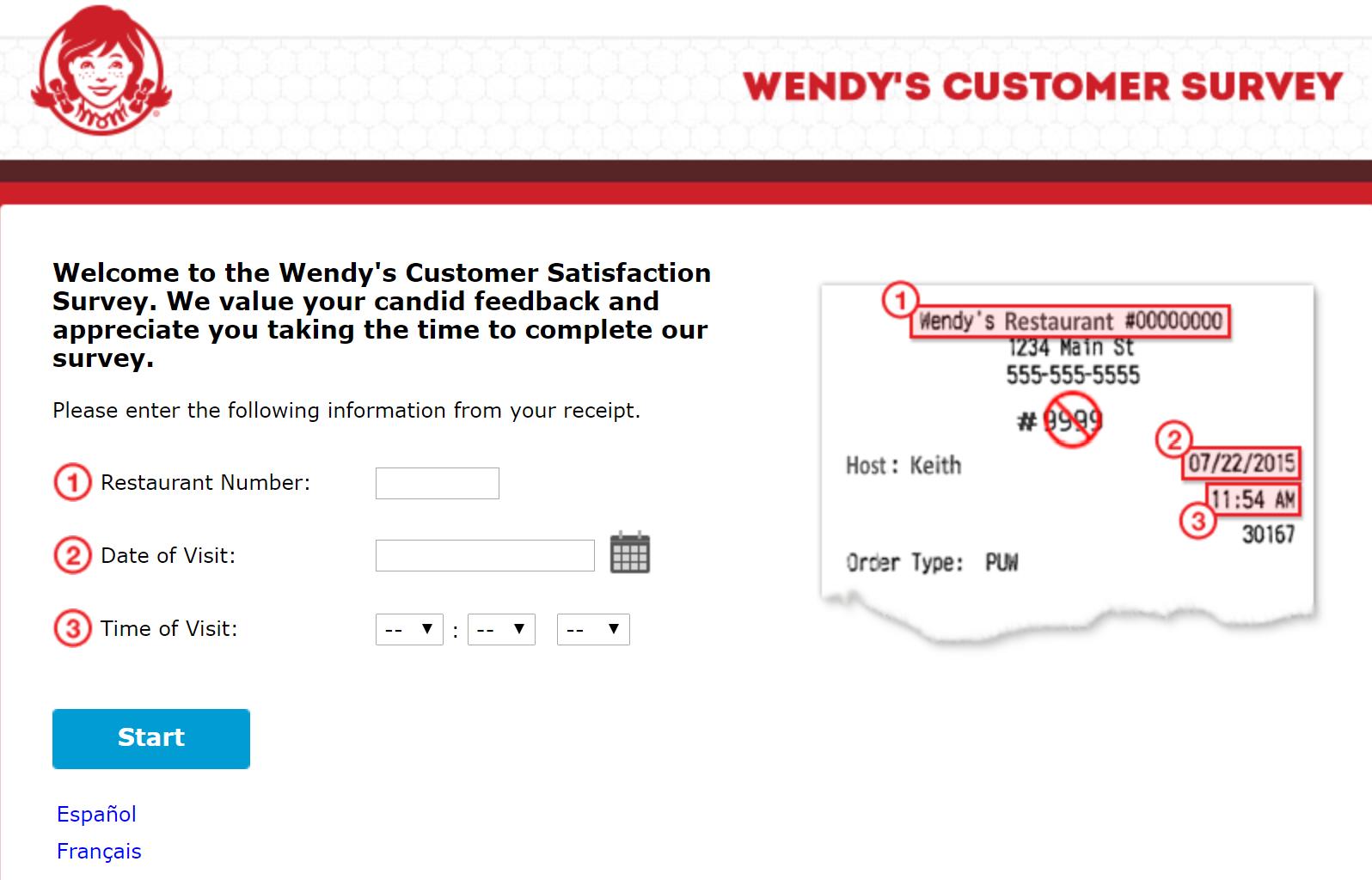 talktowendys customer survey
